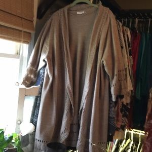 1x Croft & Barrow Duster Sweater